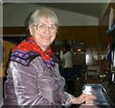 Jean at her piano in north London